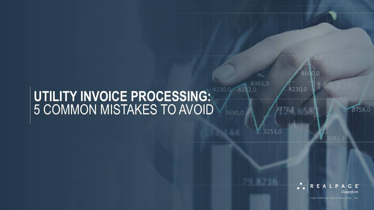 Utility Invoice Processing Webcast Cover