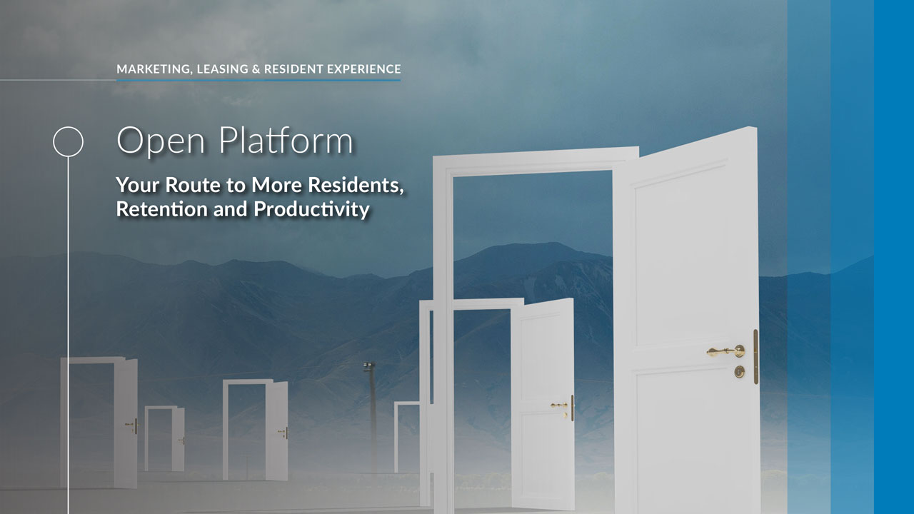 get more residents, retention and productivity with open platform solutions
